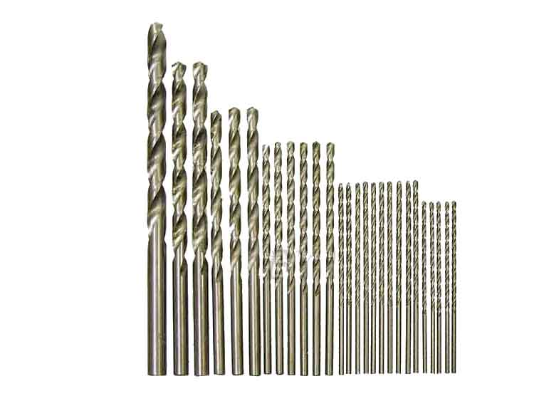 HSS drill bits 2 - 10mm 22 pieces Extra Long Straight Shank