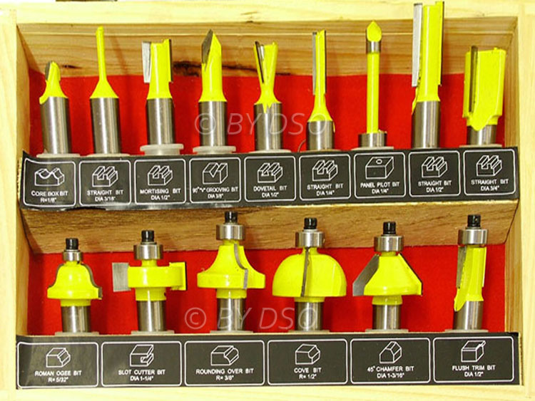 TCT Tipped Router Bit Set 1/2